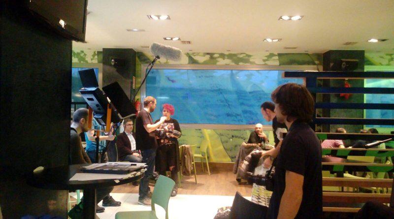Primer día de grabación de la webserie Morrosko en el Restaurante Green de Zabalgana (Vitoria-Gasteiz)
